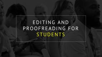 DISSERTATION EDITING FOR INTERNATIONAL STUDENTS