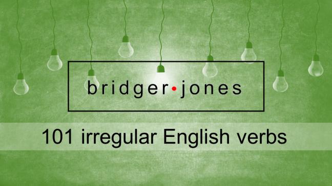 A list of irregular English verbs