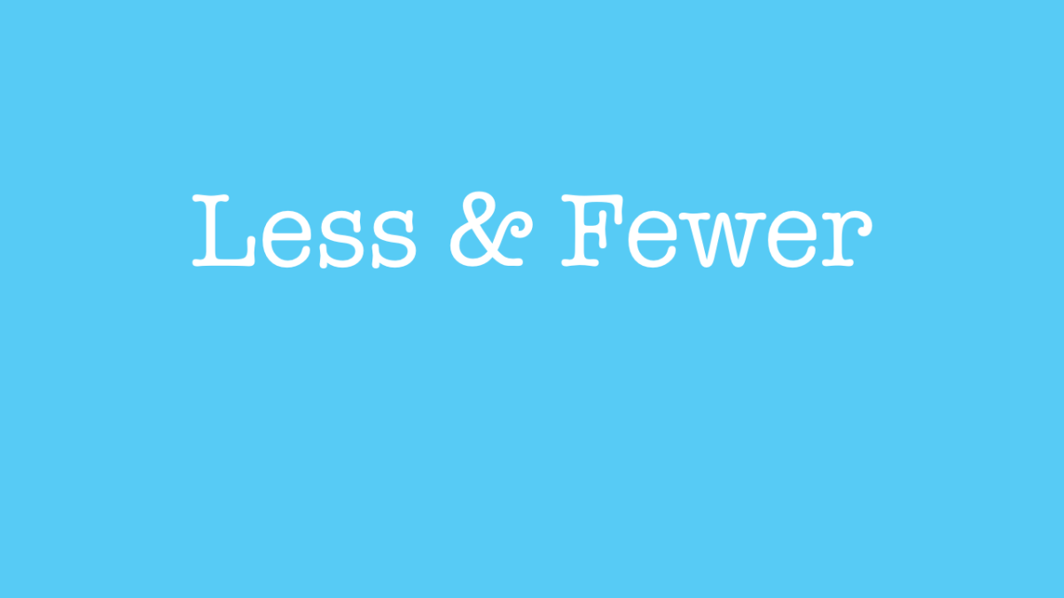 When to use less and fewer