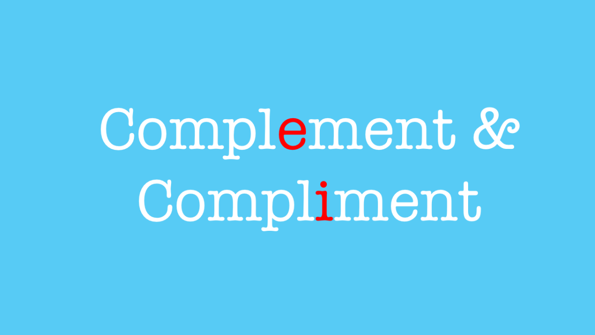 when to use complement and compliment