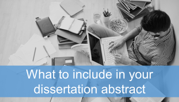 How to write an abstract for your dissertation a great