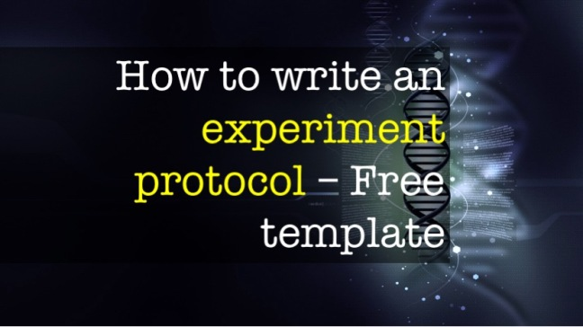 A guide to writing an experiment protocol