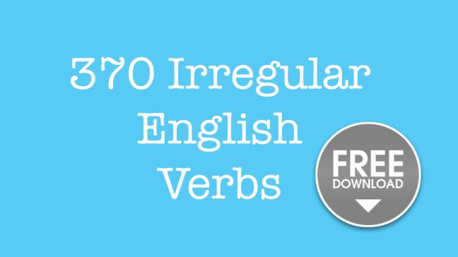 English irregular verbs free pdf